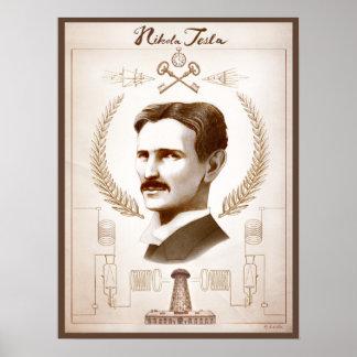 18 x 24 posters de Tesla de la pulgada