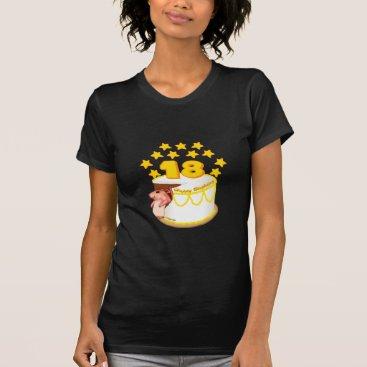 artmuvz 18 Year Old Birthday Cake women's dark t-shirt
