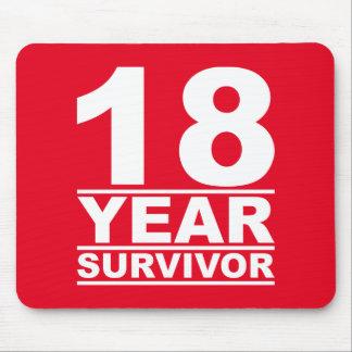 18 year survivor mouse pad