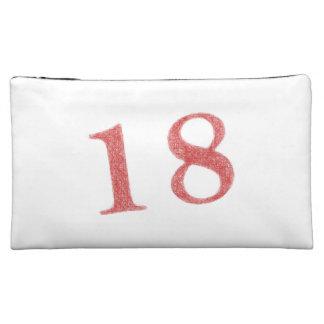 18 years anniversary cosmetic bag