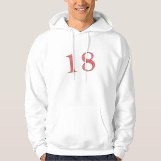 18 years anniversary hooded sweatshirt