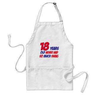 18 years birthday design apron