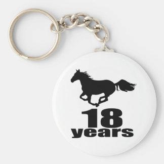 18 Years Birthday Designs Keychain