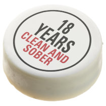 18 Years Clean and Sober Chocolate Dipped Oreo