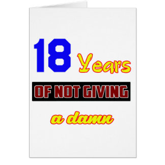 18 years of not giving a card