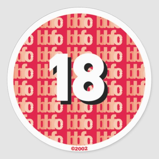 18certificate etiqueta redonda
