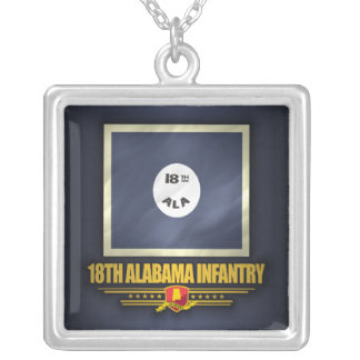 18th Alabama Infantry Silver Plated Necklace