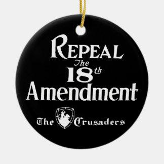 18th Amendment Ceramic Ornament