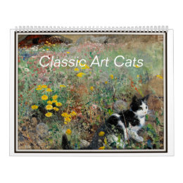 18th and 19th Century Fine Art Featuring cats Calendar