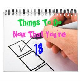18th Bday Calendar