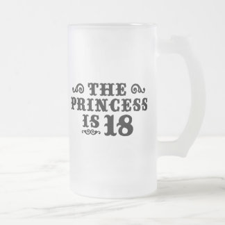 18th Birthday 16 Oz Frosted Glass Beer Mug