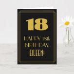 "[ Thumbnail: 18th Birthday ~ Art Deco Inspired Look ""18"" & Name Card ]"