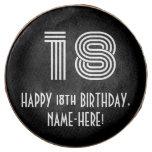 "[ Thumbnail: 18th Birthday - Art Deco Inspired Look ""18"", Name ]"
