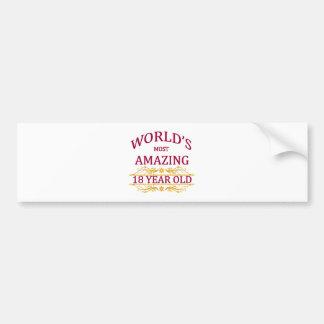18th. Birthday Bumper Sticker
