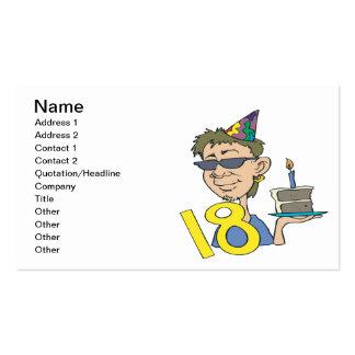 18th Birthday Business Card