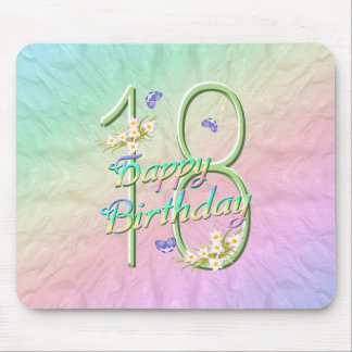 18th Birthday Butterfly Garden Mousepad