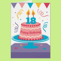 18th Birthday Cake Card