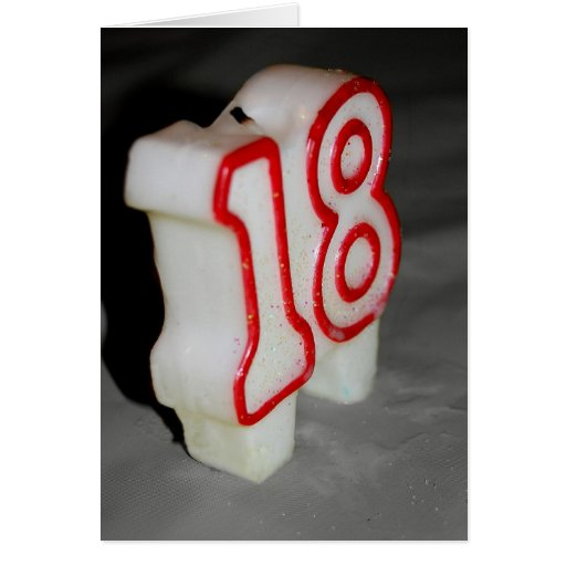 18th Birthday Candle Birthday Card
