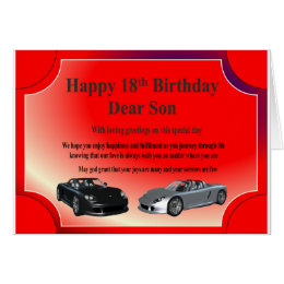 Son 18th birthday cards greeting photo cards zazzle 18th birthday card for a son bookmarktalkfo Choice Image