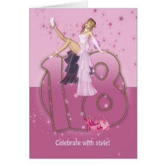 18th Birthday Card Pink