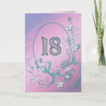 """18th Birthday card with diamond stars<br><div class=""""desc"""">A birthday card with pizazz! Bling and diamonds will show how much you care!</div>"""