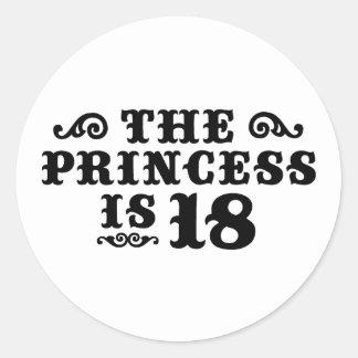18th Birthday Classic Round Sticker