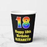 [ Thumbnail: 18th Birthday: Colorful, Fun, Exciting, Rainbow 18 ]