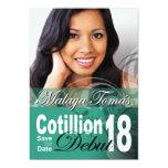 18th Birthday Cotillion Debut Save the Date Photo Custom Invitations