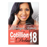 18th Birthday Cotillion Debut Save the Date Photo Personalized Announcements