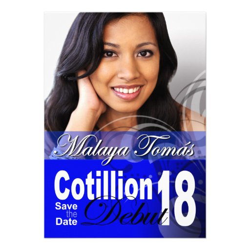 18th Birthday Cotillion Debut Save the Date Photo Personalized