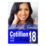 18th Birthday Cotillion Debut Save the Date Photo Personalized Invites