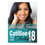 18th Birthday Cotillion Debut Save the Date Photo Invite