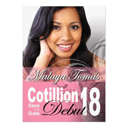 18th Birthday Cotillion Debut Save the Date Photo Custom