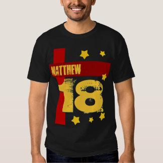18th Birthday Custom Name BLACK RED GOLD V2A T-Shirt