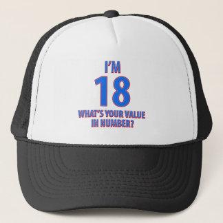 18th birthday designs trucker hat