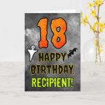 [ Thumbnail: 18th Birthday: Eerie Halloween Theme + Custom Name Card ]