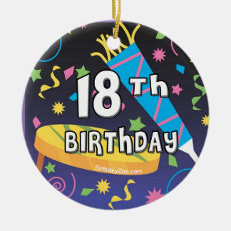 18th Birthday Favors Ceramic Ornament