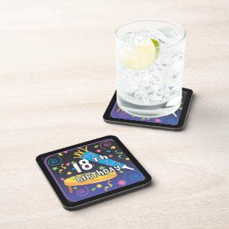 18th Birthday Favors Drink Coaster