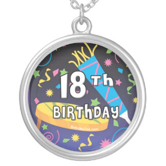 18th Birthday Favors Silver Plated Necklace
