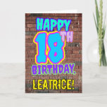 [ Thumbnail: 18th Birthday - Fun, Urban Graffiti Inspired Look Card ]
