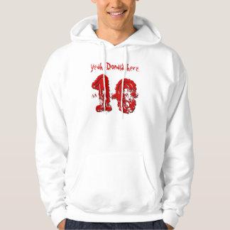 18th Birthday Gift Eighteen Custom Name V05 Hooded Pullover