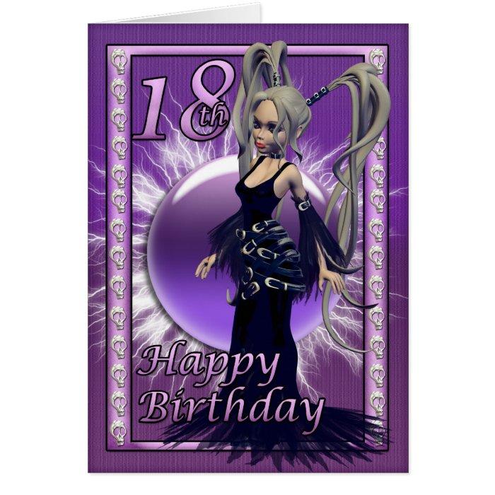 18th Birthday Gothic Doll, Happy Birthday 18 Card