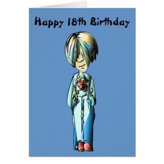 18th Birthday Greeting Card, with Cool Dude Digita Card