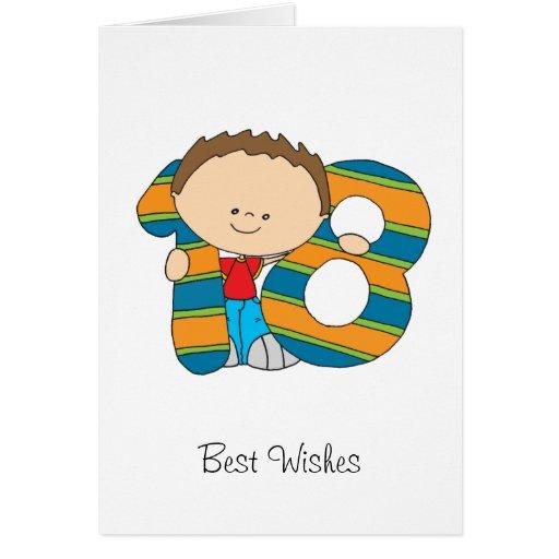 18th Birthday - Greetings Card - Boy