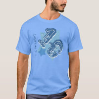 18th Birthday Grunge Number or ANY Year V14 BLUE T-Shirt