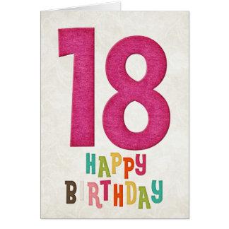 18th Birthday Happy Birthday Card Design 2