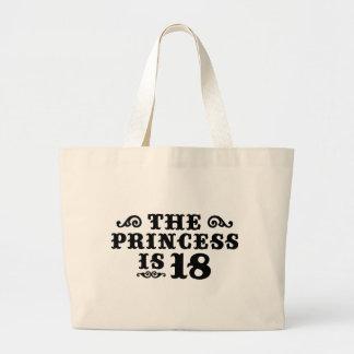 18th Birthday Large Tote Bag