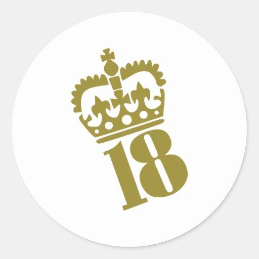 18th Birthday - Number – Eighteen Classic Round Sticker