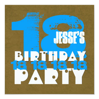 18th Birthday Party 18 Year Old Grunge Z18A 5.25x5.25 Square Paper Invitation Card