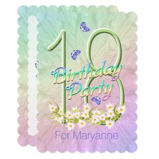 18th Birthday Party Butterfly Garden Invitation